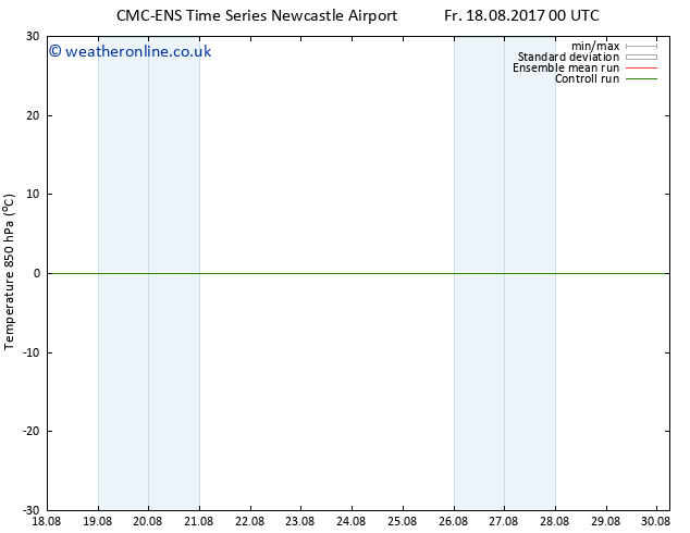 Temp. 850 hPa CMC TS We 23.08.2017 00 GMT